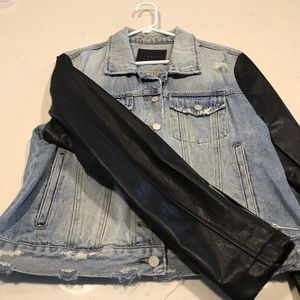 Blank NYC leather and jean jacket